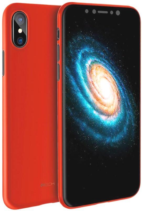 """Чохол-накладка ROCK RPC1323 для iPhone X (5.8"""") Naked Shell ser. Червоний/матовий"""