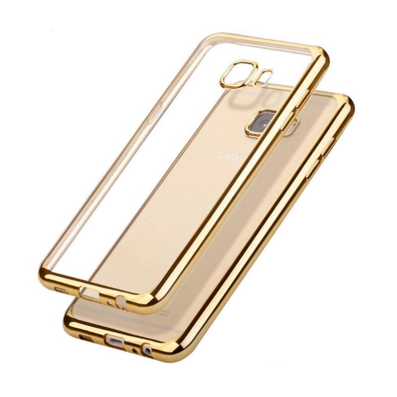 Чохол-накладка для Samsung G570F J5 Prime(2016) Прозорий/золотистий(324457)