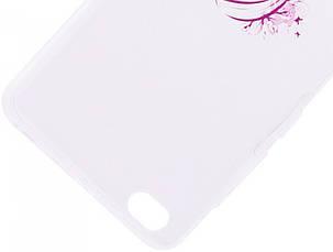 Чохол-накладка для Xiaomi Redmi 4a Cute Print ser. Girl (hair) Прозорий/безколірний, фото 2