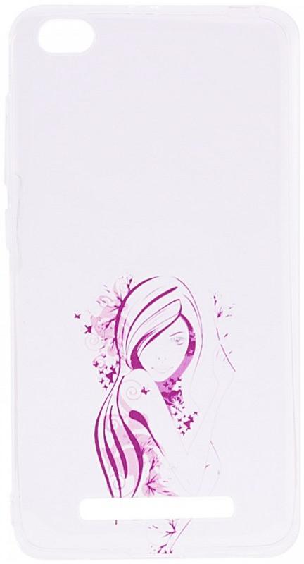 Чохол-накладка для Xiaomi Redmi 4a Cute Print ser. Girl (hair) Прозорий/безколірний