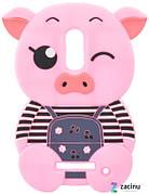 Чохол-накладка для Xiaomi Redmi Note 4 Cavy ser. Об'ємний Свинка Рожевий