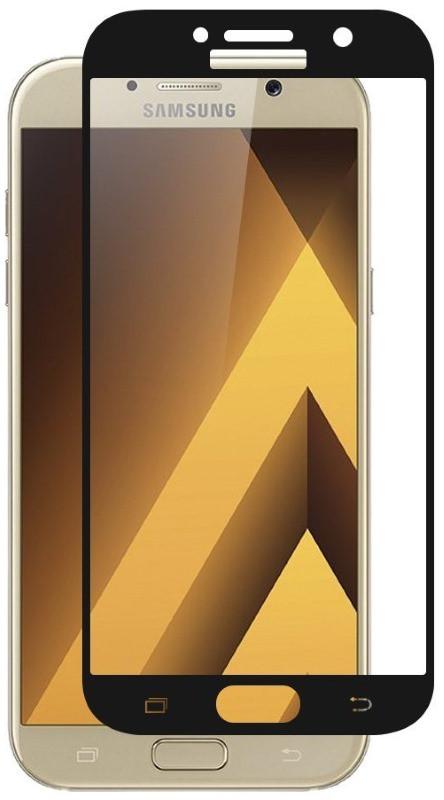 Защитное стекло AUZER для Samsung A320F A3 (2017) с рамками Прозрачное / черный