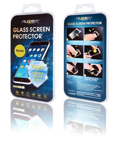 Защитное стекло AUZER для Samsung A320F A3 (2017) с рамками Прозрачное / черный, фото 2