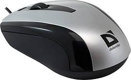 Мышка Defender Optimum MM-140 USB Черный / серебристый