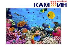 Керамический обогреватель КАМ-ИН 950СT с рисунком и терморегулятором Украина, фото 2
