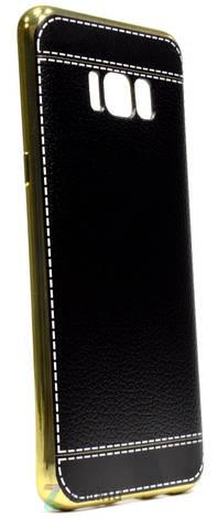Чохол-накладка для Samsung G950 S8 TPU Імітація шкіри Чорний, фото 2