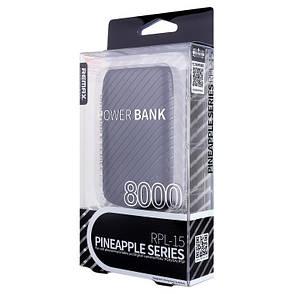 Power Bank REMAX RPL-15 Pineapple ser. 8000 мАг Чорний, фото 2