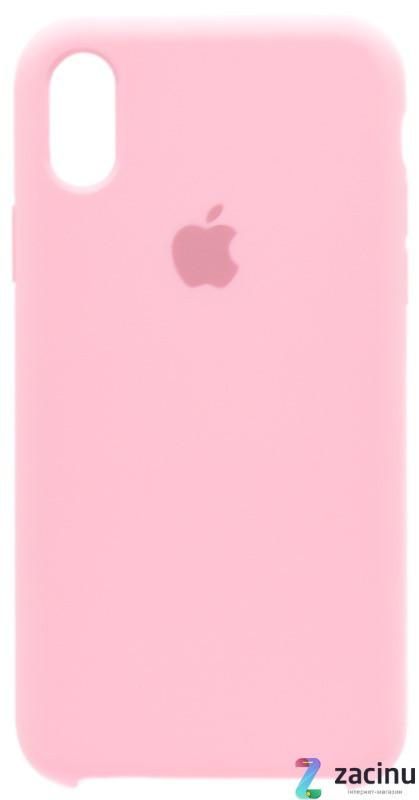 """Чохол-накладка для iPhone X (5.8"""") Silicon Case ser. (veri high copi) Рожевий(Pink)"""