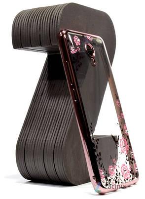 Чохол-накладка для Meizu M5 Note Квіти Прозорий/рожевий(341102), фото 2