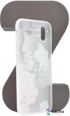 """Чохол-накладка OMEVE для iPhone X (5.8"""") Pictures ser. Квіти та пташка Прозорий/матовий, фото 2"""