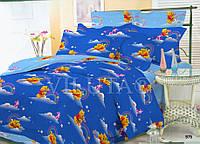 Детское постельное белье 975 Винни Пух  поплин ТМ Вилюта голубой полуторный