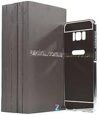 Чохол-бампер для Samsung G950 S8 з акриловою вставкою Сріблястий(371987), фото 2