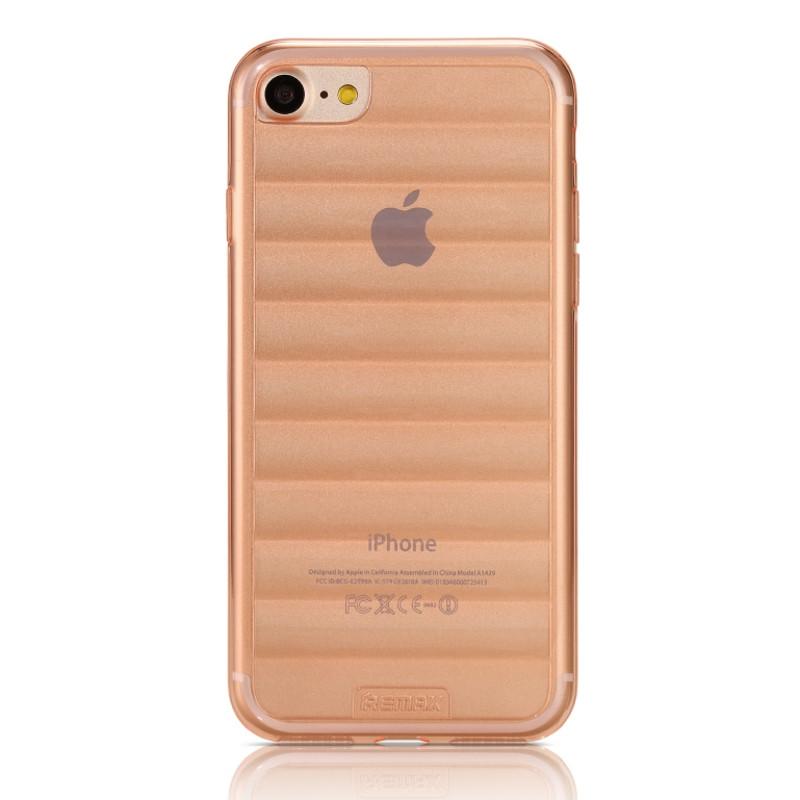 Чохол-накладка Remax для iPhone 7 Waves ser. Прозоро/рожевий(332252)