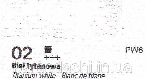 Масло RENESANS OILS FOR ART 02 белила титановые 20мл, фото 2
