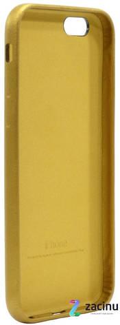 Чохол-накладка для iPhone 6/6S Leather Case Високоякісна копія Gold, фото 2