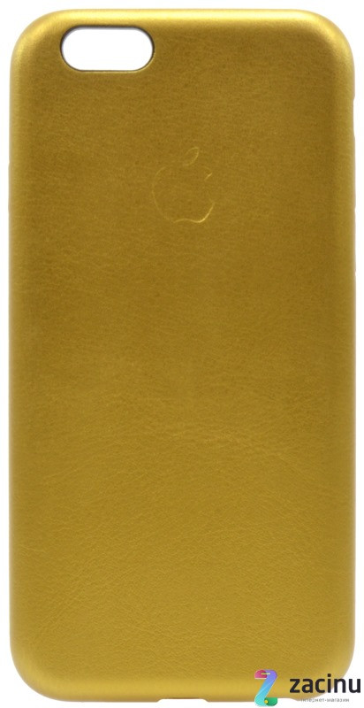 Чохол-накладка для iPhone 6/6S Leather Case Високоякісна копія Gold