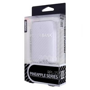 Power Bank REMAX RPL-15 Pineapple ser. 8000 мАг Білий, фото 2
