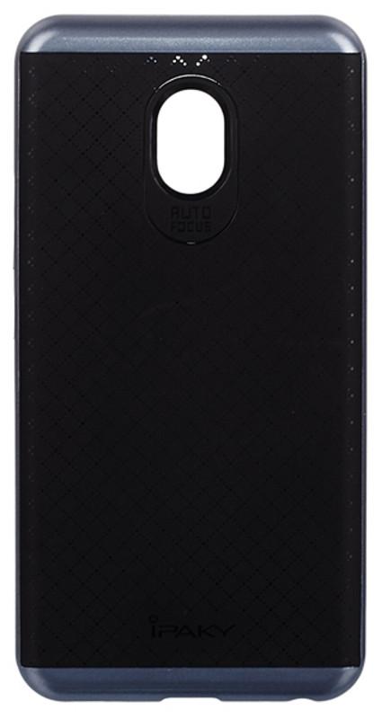 Чехол накладка iPaky для Meizu M5 TPU + PC Черный / серый