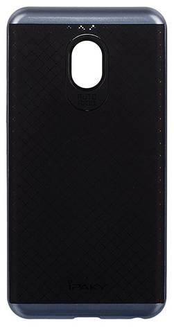 Чехол накладка iPaky для Meizu M5 TPU + PC Черный / серый, фото 2