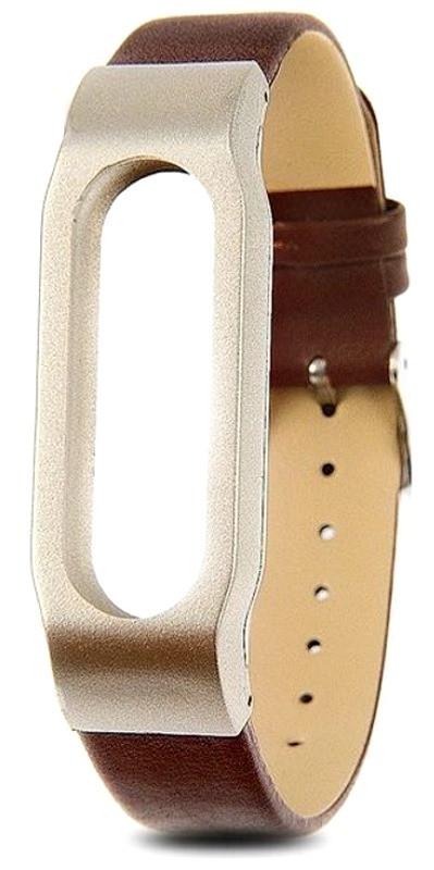 Ремінець для Xiaomi Mi Band Leather ser. Brown