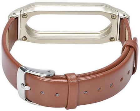 Ремінець для Xiaomi Mi Band Leather ser. Brown, фото 2