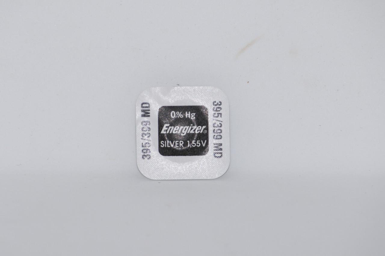 Батарейка для часов. Energizer SR927SW (395) 1.55V 57mAh 9,5x2.73mm. Серебрянно-цинковая