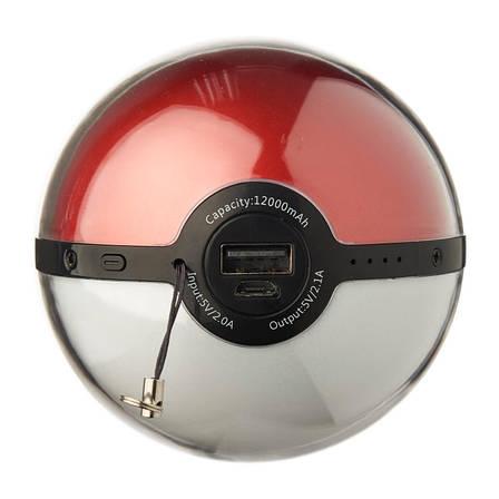 УМБ Pokemon Go ser. 12000 мАг Червоний/білий, фото 2