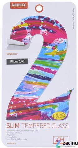 Захисне Скло REMAX для iPhone 6/6S Slim ser. 0.2mm 2 шт Прозоре, фото 2