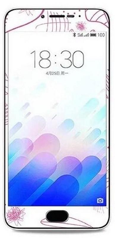 Защитное стекло для MEIZU M3 Note Защита 360 ° с рисунком Туфелька Прозрачный / белый