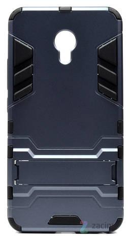 Чохол-накладка Transformer для Meizu M5 Ударостійкий Підставка Сірий, фото 2