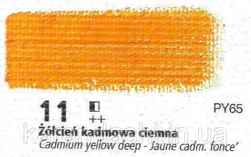 Масло RENESANS OILS FOR ART 11 кадмий желтый темный 20мл, фото 2