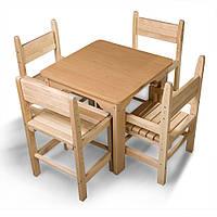 Детский стол и стул буковый