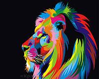 Картина по номерам 40х50 Цветной лев (GX3973), фото 1