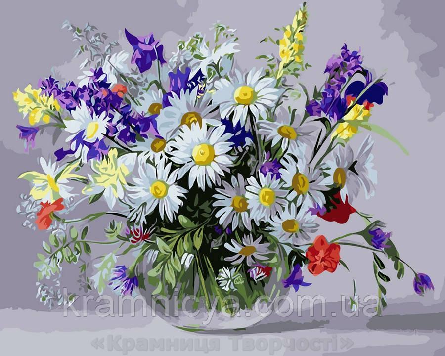 Картина по номерам 40х50 Ваза полевых цветов (GX9890)