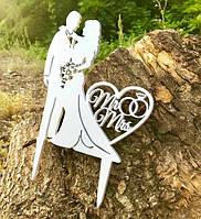 Деревянный топпер Жених и невеста №7