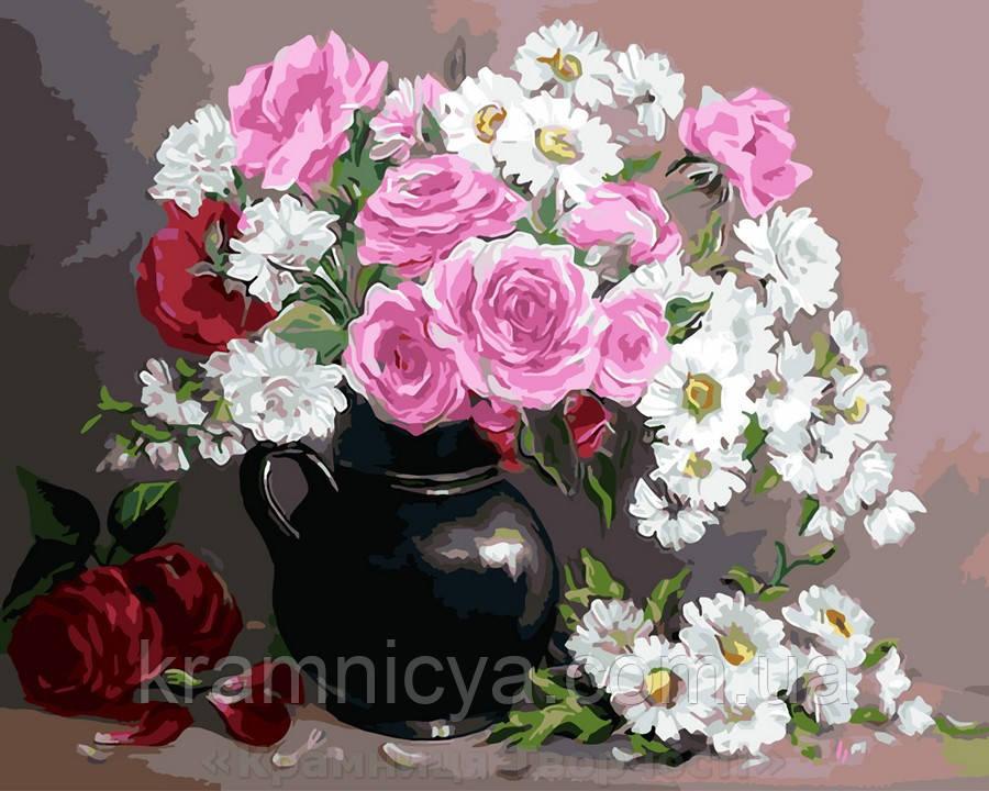 Картина по номерам 40х50 Цветочный натюрморт (GX9408)