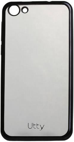 Чохол-накладка Utty для Nomi ECi5030/i5030 Electroplating TPU case Прозорий/чорний, фото 2