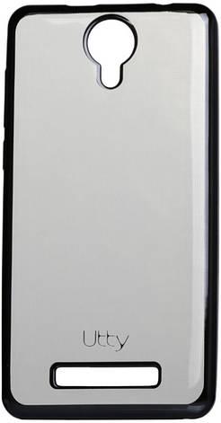 Чехол накладка Utty для Nomi ECi5010 / i5010 Electroplating TPU case Прозрачный / серый, фото 2