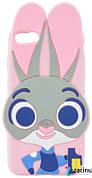 Чехол накладка для iPhone 7/8 Rabbit ser.Объемный Заяц Розовый