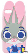 Чохол-накладка для iPhone 7/8 Rabbit ser. Об'ємний Заєць Рожевий