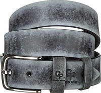 Ремень мужской Grande Pelle 11064 кожа Серый, фото 1