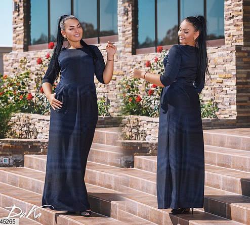 Платье в пол демисезонное трикотажное размеры: 50,52,54,56, фото 2