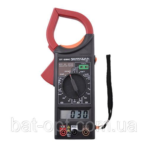 Мультиметр токовые клещи DT266C, щупы, клемметр