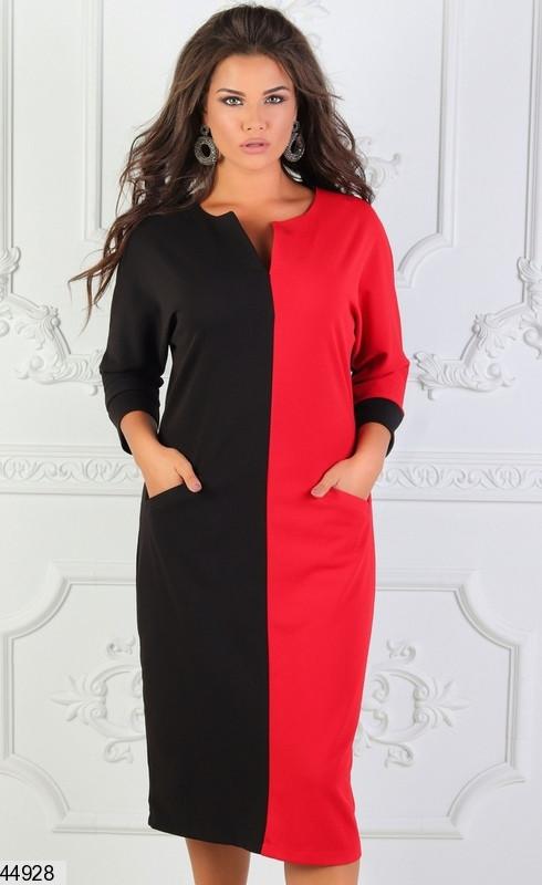 Женское деловое демисезонное платье размеры:48-50, 52-54, 56-58