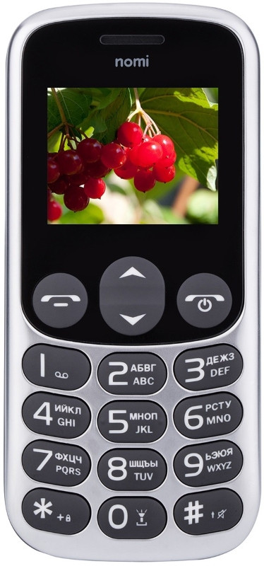 Мобільний телефон Nomi i177 Metal Grey (Сірий)