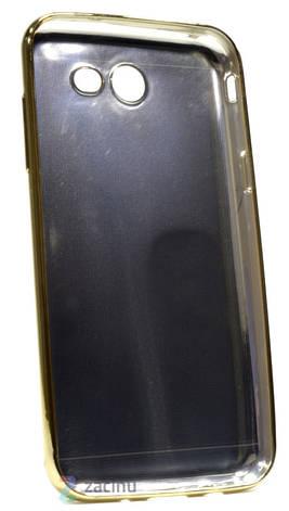 Чехол накладка для Samsung J330 J3 (2017) TPU Имитация кожи Черный, фото 2