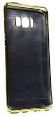 Чохол-накладка для Samsung G955 S8 Plus TPU Імітація шкіри Світло-коричневий(352900), фото 3