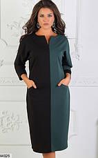 Женское деловое демисезонное платье размеры:48-50, 52-54, 56-58, фото 2