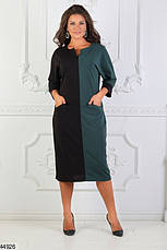 Женское деловое демисезонное платье размеры:48-50, 52-54, 56-58, фото 3