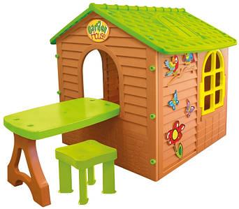 Детский домик со столиком и стульчиком Mochtoys